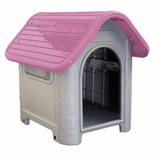 Casinha De Cachorro Plástica Desmontável Número 3 Rosa