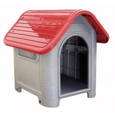 Casinha De Cachorro Plástica Desmontável Número 3 Vermelha