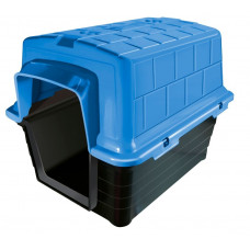 Casinha de Cachorro Plástica Numero 5 Raças Grandes Azul