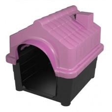 Casinha Plástica Desmontável Cachorro Numero 1 Rosa