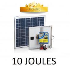 Eletrificador Solar para Cerca Elétrica Rural Zebu 200km 10J ZS200i