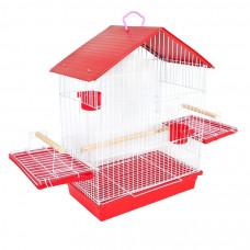 Gaiola para Calopsita Papagaio e outros Pássaros Completa Vermelha