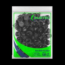 Isolador Roldana PVC 40x40mm 100 unidades