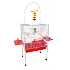 Viveiro para Calopsita Papagaio e outros Pássaros Jel Plast Triplex Vermelho